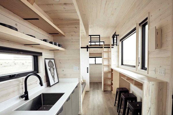 Tiny House Life in San Antonio from a Shell Kit